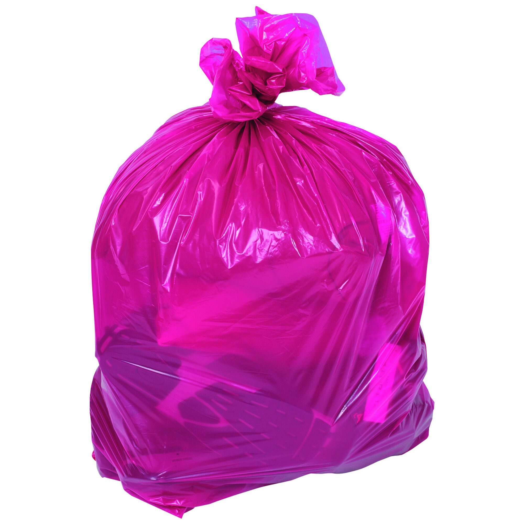 Clear & Coloured Refuse Sacks - Red