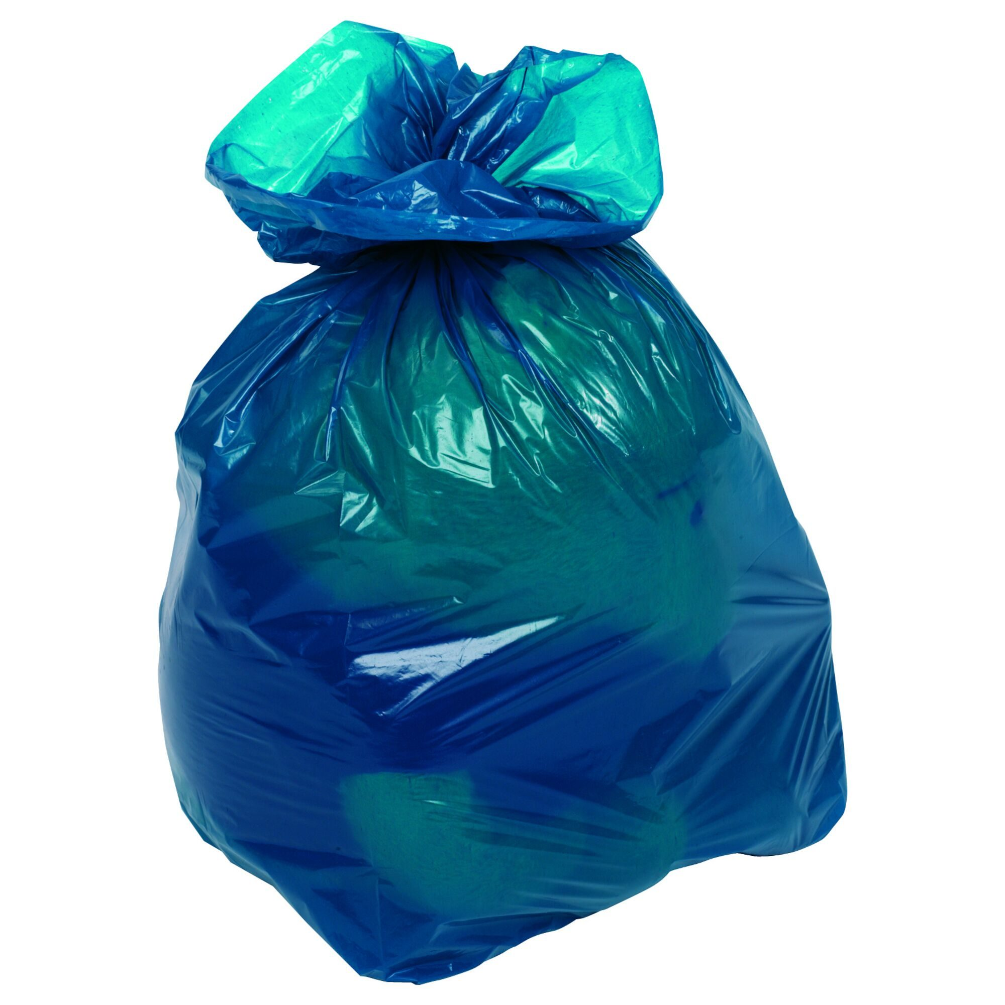 Clear & Coloured Refuse Sacks - Blue