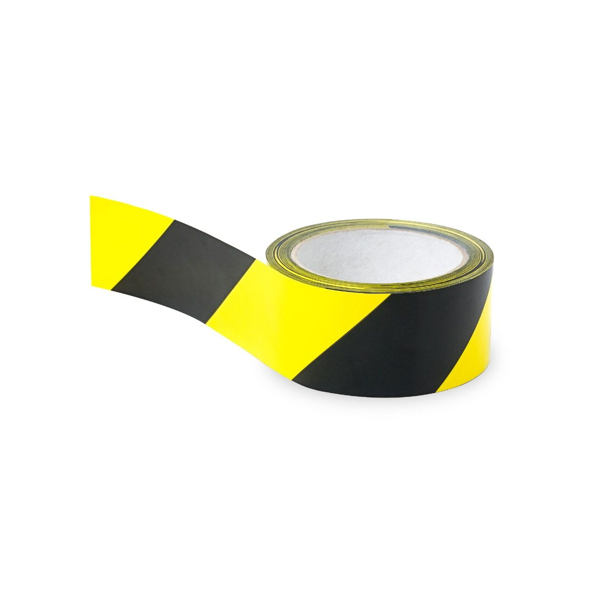 Hazard Marking Tape Yellow & Black - 48mm x 66m