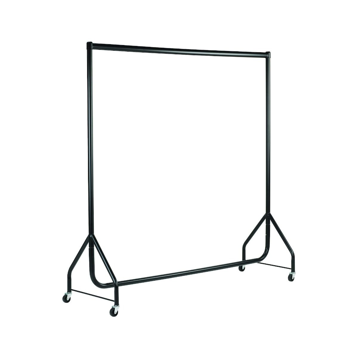 Black Heavy Duty Clothes Rails - L 5ft x H 5ft