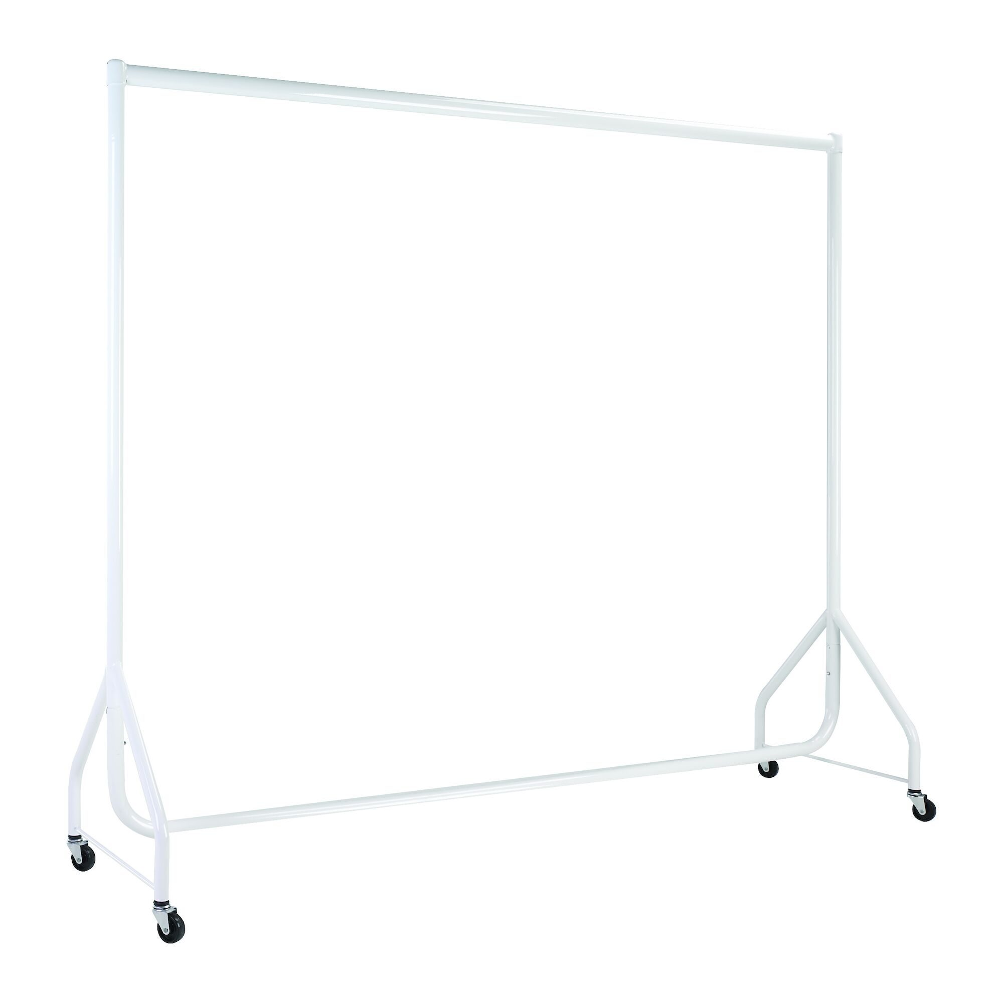 White Heavy Duty Clothes Rails - L 6ft x H 5ft