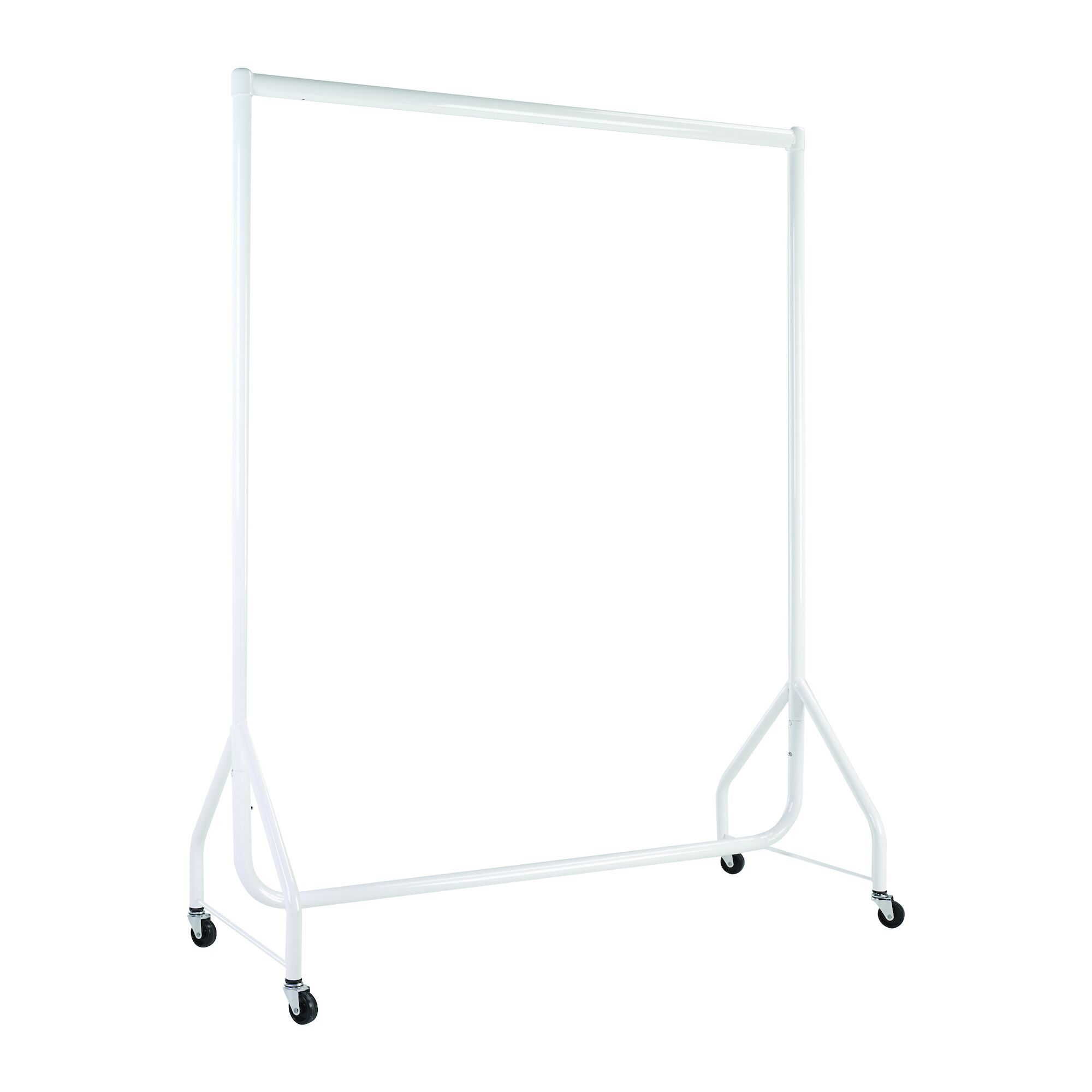 White Heavy Duty Clothes Rails - L 4ft x H 5ft