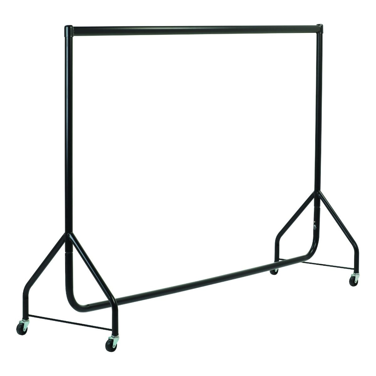 Black Heavy Duty Clothes Rails - L 6ft x H 4ft
