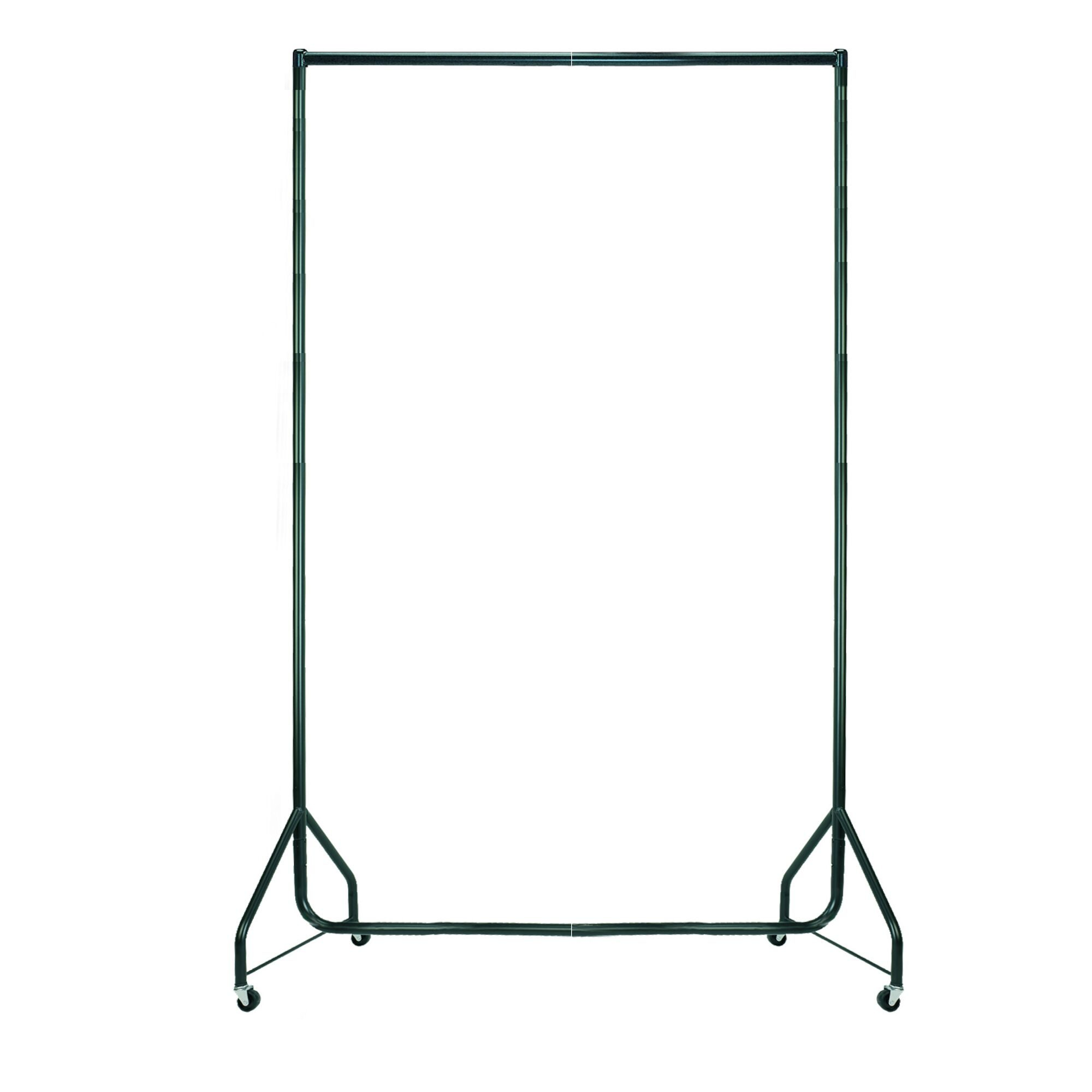 Black Heavy Duty Clothes Rails - L 4ft x H 7ft
