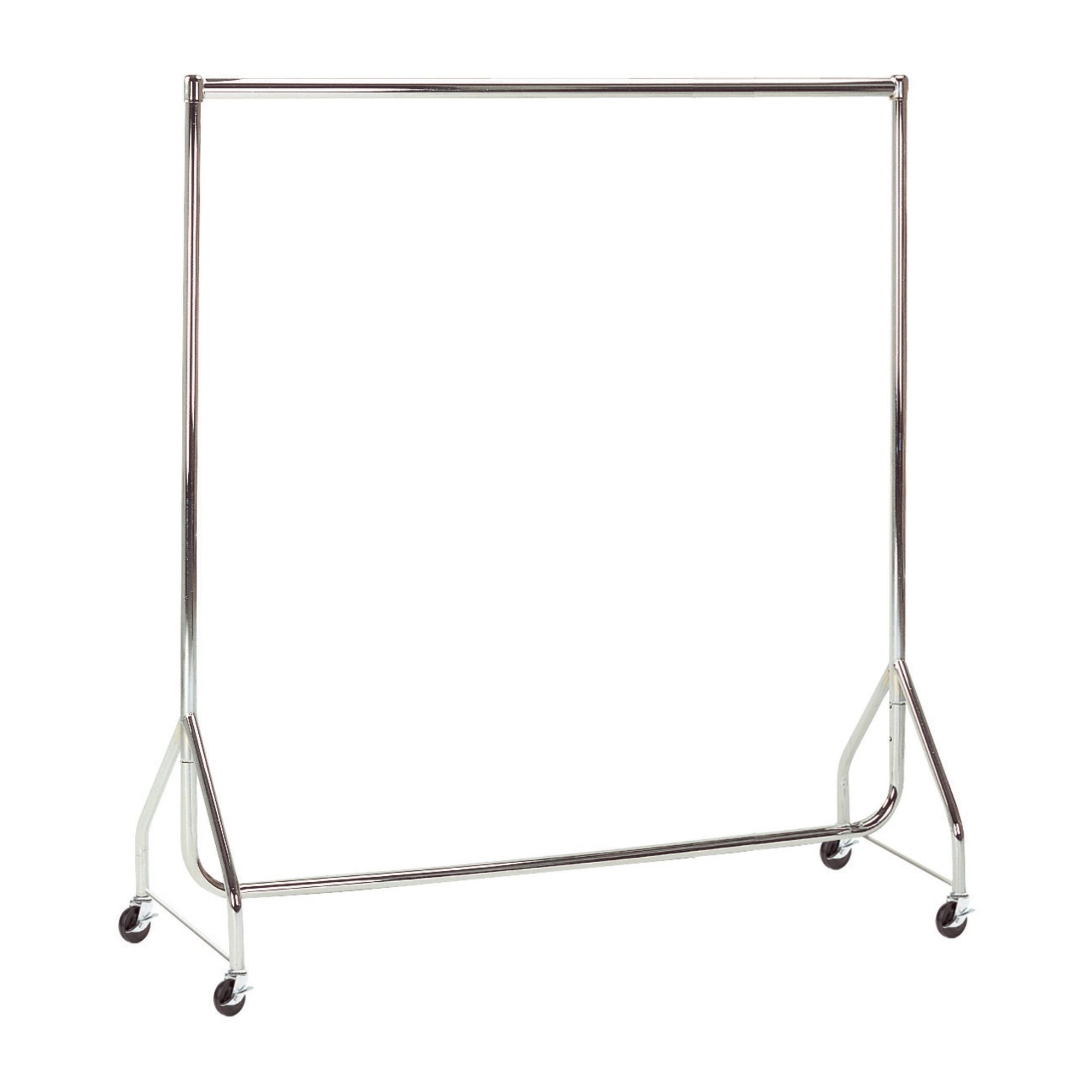 Chrome Heavy Duty Clothes Rails - L 4ft x H 5ft