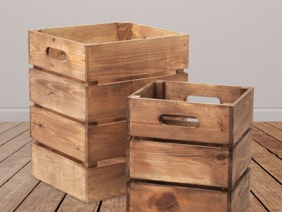 Sustainably Sourced Display Crates