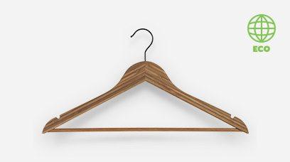 Eco- Friendly Bamboo Hangers